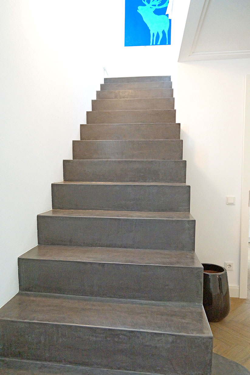 awesome beton cire treppe ideas. Black Bedroom Furniture Sets. Home Design Ideas